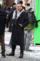 NEW YORK, NY - DECEMBER 12: Russell Crowe on the set of Winter's Tale in New York City. December 12, 2012. Credit: RW/MediaPunch Inc. /NortePhoto