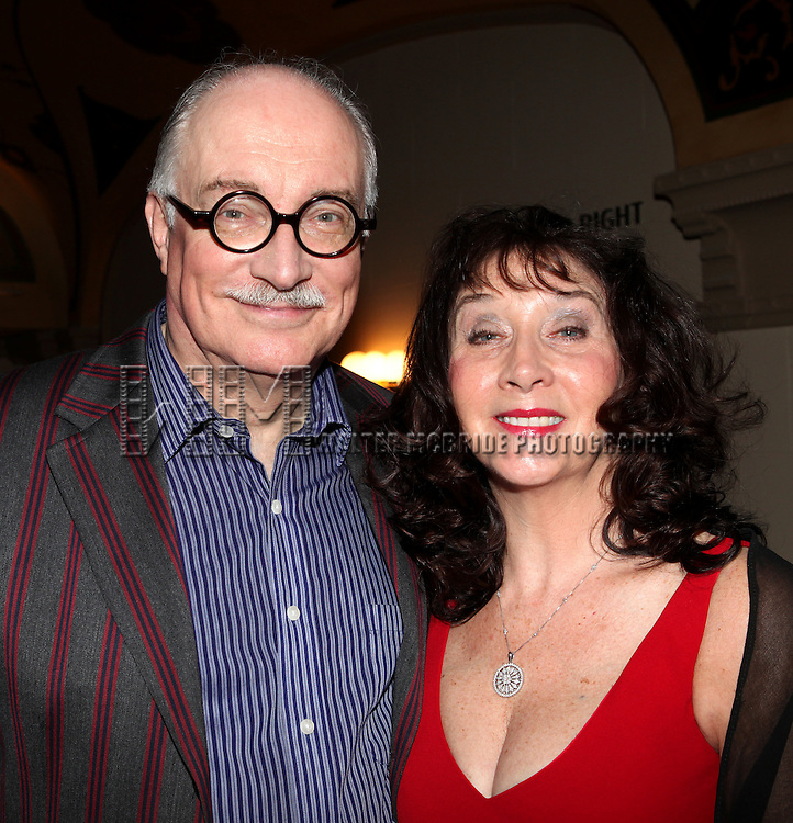 Simon Jones & Sandra Shipley.attending the reception for the final performance of the New York City Center ENCORES! Production of 'Gentlemen Prefers Blondes' at City Center in New York City on 5/13/2012.