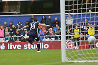 Jack Marriott of Derby County scores the opening goal and celebrates during Queens Park Rangers vs Derby County, Sky Bet EFL Championship Football at Loftus Road Stadium on 6th October 2018