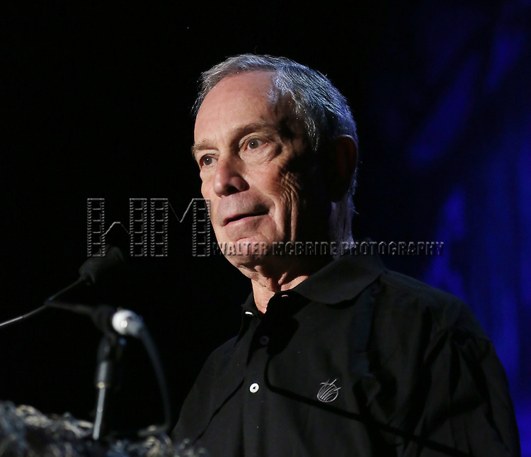 """Michael Bloomberg  attending Bette Midler's New York Restoration Project's Annual """"Hulaween in the Big Easy"""" at  the Waldorf Astoria on October 31, 2013  in New York City."""