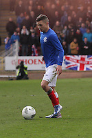 Danny Storey in the Celtic v Rangers City of Glasgow Cup Final match played at Firhill Stadium, Glasgow on 29.4.13,  organised by the Glasgow Football Association and sponsored by City Refrigeration Holdings Ltd..