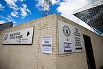 Edinburgh City 1 Cove Rangers 1, 30/04/2016. Commonwealth Stadium, Scottish League Pyramid Play Off. Posters advertising the Scottish pyramid play-off second leg between Edinburgh City and Cove Rangers at the Commonwealth Stadium at Meadowbank in Edinburgh. The match between the champions of the Lowland and Highland Leagues determined which club would play-off against East Stirlingshire for a place in the Scottish league. The second leg ended 1-1, giving Edinburgh City a 4-1 aggregate win. Photo by Colin McPherson.