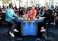 "MIAMI BEACH, FL - JANUARY 31: LIL WAYNE joins Shannon Sharpe, Jenny Taft, and Skip Bayless on the set of ""Skip & Shannon: Undisputed"" on the Fox Sports South Beach studio during Super Bowl LIV week on January 31, 2020 in Miami Beach, Florida. (Photo by Frank Micelotta/Fox Sports/PictureGroup)"