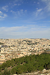 Israel, Lower Galilee, a view of Nazareth from Mount Precipice