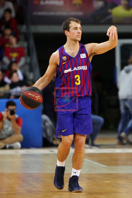 League ACB-ENDESA 2018/2019. Game: 14.<br /> FC Barcelona Lassa vs Monbus Obradoiro: 79-73.<br /> Kevin Pangos.