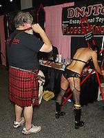 Papa Scott, Red Reine at Exxxotica, Edison Convention Center, NJ, Saturday November 8, 2014.