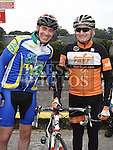 Drogheda Wheelers member Conor McCabe and Mick Nulty from Stamullen Road club  who took part in the Kevin King Memorial Cycle in aid of St John's Ambulance Brigade and Drogheda and District Support 4 Older People. Photo:Colin Bell/pressphotos.ie