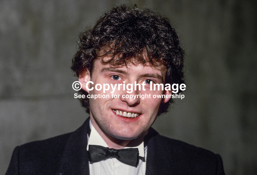 Jimmy White, England, professional snooker player, Irish Masters, Goffs, Rep of Ireland, 198503000033a.<br />