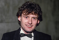 Jimmy White, England, professional snooker player, Irish Masters, Goffs, Rep of Ireland, 198503000033a..Copyright Image from Victor Patterson, 54 Dorchester Park, Belfast, UK, BT9 6RJ..Tel: +44 28 9066 1296.Mob: +44 7802 353836.Voicemail +44 20 8816 7153.Skype: victorpattersonbelfast.Email: victorpatterson@mac.com.Email: victorpatterson@ireland.com (back-up)..IMPORTANT: If you wish to use this image or any other of my images please go to www.victorpatterson.com and click on the Terms & Conditions. Then contact me by email or phone with the reference number(s) of the image(s) concerned.