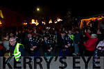 The Killorglin Pipe Band led the parade at the Portmagee New Year's Eve Festivities.