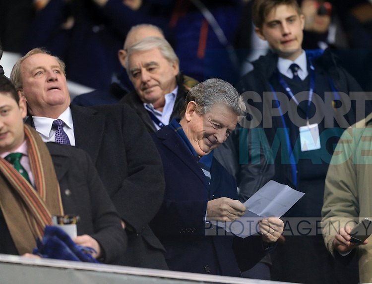 England manager Roy Hodgson looks at the team sheet during the Europa League match at White Hart Lane Stadium.  Photo credit should read: David Klein/Sportimage