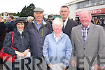 Helen Geaney, Sean Moriarty, Grace Cronin, Mike Cronin and Dave Geaney (all Fossa) enjoying Listowel races on Sunday.