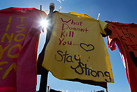 The Clothesline Project on the Drill Field<br />  (photo by Colleen McInnis / &copy; Mississippi State University)