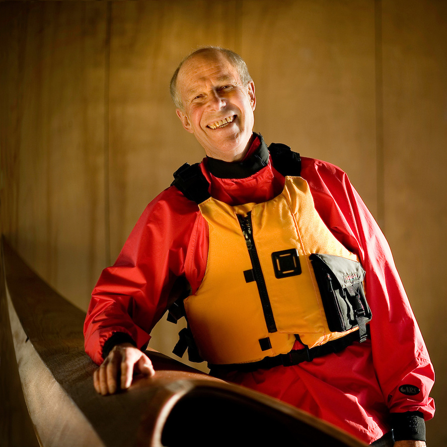 "At age 76, there are few sports Ken Clunis, of Camarillo, hasn't tried. He is a world class skier, which is how he met his wife of 52 years, he jogs, climbs mountains, flies airplanes, canoes and kayaks, as shown here in his garage with his Shearwater 17 mahogany kayak that he is building, Camarillo, Calif., Monday, Dec. 11, 2006. Clunis began his love of outdoor sports as a young boy growing up in upstate New York. ""We used to canoe on the Mohawk River as kids,"" says Clunis, ""But now I prefer to kayak."" When asked how he says so active, Clunis replied, ""When I wake up in the morning, my feet hit the floor and I immediately think what's next. I have to be doing something."" ."