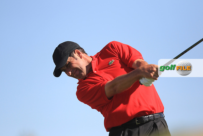 Jose Maria Olazabal (ESP) on the 3rd tee during the second round at the Abu Dhabi HSBC Golf Championship in the Abu Dhabi golf club, Abu Dhabi, UAE..Picture: Fran Caffrey/www.golffile.ie.