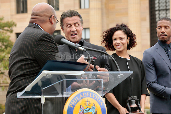 PHILADELPHIA, PA - NOVEMBER 6: Sylvester Stallone pictured as the Cast Of Creed make an appearance at Philadelphia Museum of Art on November 6, 2015 in Philadelphia, Pennsylvania. Credit: mpi09/MediaPunch