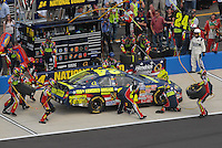 Apr 28, 2007; Talladega, AL, USA; Nascar Busch Series driver Casey Mears (24) pits during the Aarons 312 at Talladega Superspeedway. Mandatory Credit: Mark J. Rebilas