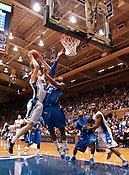 Duke forward Kyle Singler succesfully makes 2 more of his 21 total points at the Duke vs. St. Louis basketball game Saturday, December 11, 2010. (Photo by Al Drago)