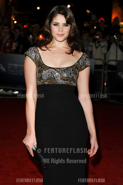 Gemma Arteton arriving for the premiere of 'The Disappearance of Alice Creed' shown as part of the London Film Festival 2009 at the Vue cinema,  Leicester Square, London. 24/10/2009  Picture by: Steve Vas / Featureflash