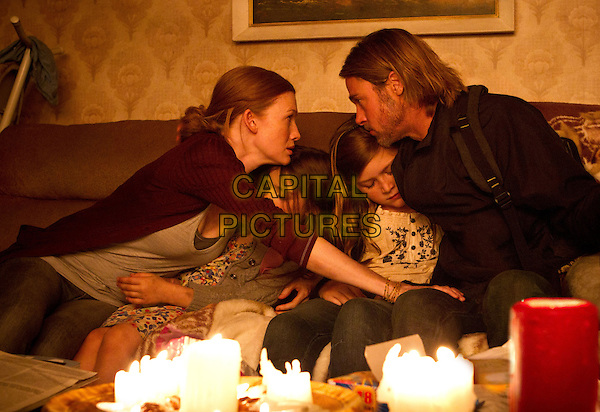 Mireille Enos, Sterling Jerins, Abigail Hargrove &amp; Brad Pitt <br /> in World War Z (2013) <br /> *Filmstill - Editorial Use Only*<br /> CAP/FB<br /> Supplied by Capital Pictures