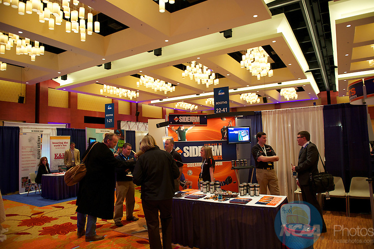 12 JAN 2011: The NCAA Convention Trade Show reception during the annual NCAA Convention held in San Antonio,TX. (Joshua Duplechian/NCAA Photos)