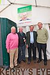 Sean Lyons (Castlegregory), Tom McElligott (Lixnaw), Joseph Lyons (Listowel) and John Costello (Lixnaw) at the Paídí Ó Sé Deireadh Seachtaine Caide over the weekend.