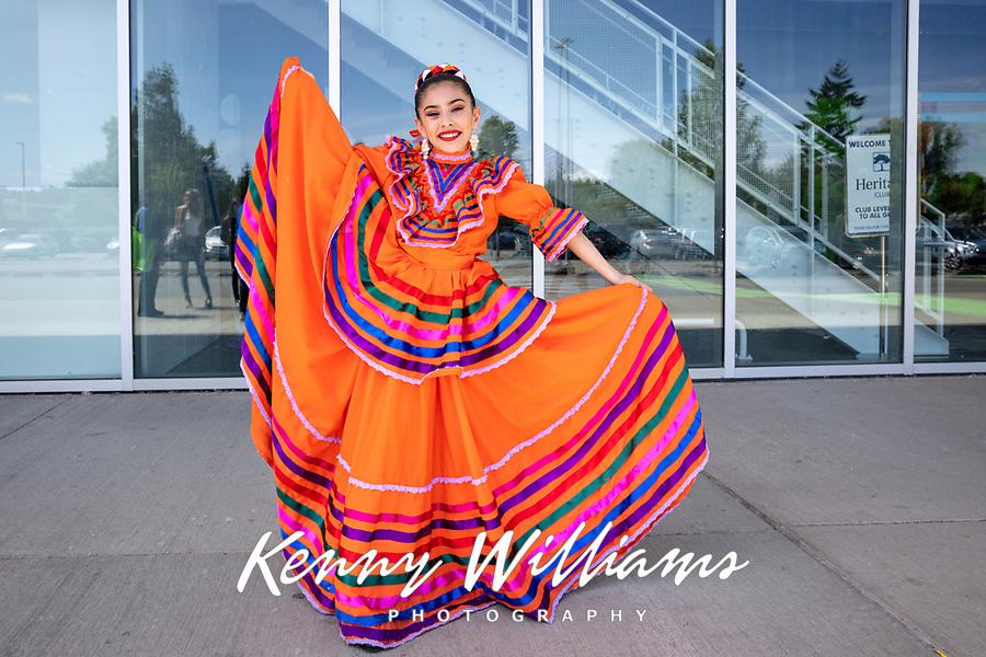Carmen Garcia, Folklore Mexicano Tonantzin, Kent International Festival, Kent, WA, USA.