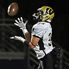 Wantagh No.34 Kyle Sliwak fields a kickoff during the Nassau County varsity football Conference II final against MacArthur at Hofstra University on Friday, Nov. 20, 2015. MacArthur won by a score of 28-14.<br /> <br /> James Escher
