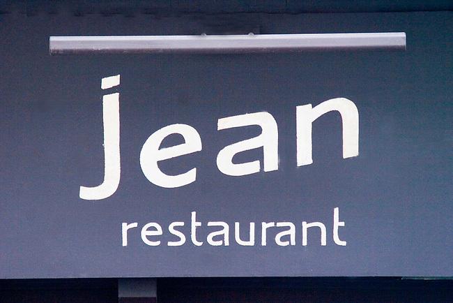 Exterior Sign, Chez Jean Restaurant, Paris, France, Europe