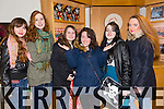 Christina Tomyuk, Mary Ann Sullivan, Michaela Barrett, Megan Kennedy, Abigail Mahoney, Aoife Sheehy at the opening night of the Mercy Mounthawk students' performance of 'The Plough And The Stars' at Siamsa Tíre on Thursday.