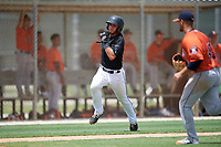 GCL Marlins Cameron Barstad (6) running the bases during a Gulf Coast League game against the GCL Astros on August 8, 2019 at the Roger Dean Chevrolet Stadium Complex in Jupiter, Florida.  GCL Marlins defeated GCL Astros 5-4.  (Mike Janes/Four Seam Images)