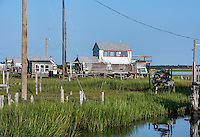 Rustic salt marsh bay shack, Wildwood, NJ, USA