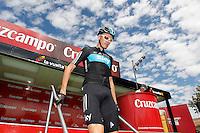 Christopher Froome before the stage of La Vuelta 2012 between Lleida-Lerida and Collado de la Gallina (Andorra).August 25,2012. (ALTERPHOTOS/Paola Otero) /NortePhoto.com<br /> <br /> **CREDITO*OBLIGATORIO** <br /> *No*Venta*A*Terceros*<br /> *No*Sale*So*third*<br /> *** No*Se*Permite*Hacer*Archivo**<br /> *No*Sale*So*third*