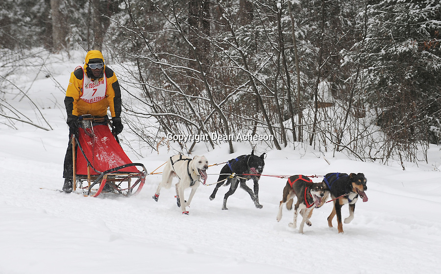 It's not often one thinks of sled dog racing and Jamaica at the same time. But this year, musher Damian Robb from Ocho Rios, Jamaica competed in the 4-dog class at the Three Bear Sled Dog Races and Games in Land O' Lakes, Wis. Feb 2nd and 3rd, 2008.