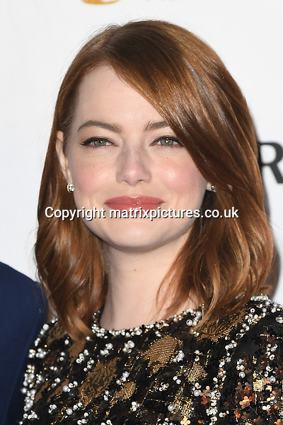 NON EXCLUSIVE PICTURE: PAUL TREADWAY / MATRIXPICTURES.CO.UK<br /> PLEASE CREDIT ALL USES<br /> <br /> WORLD RIGHTS<br /> <br /> American actress Emma Stone attends the BAFTA nominees party at Kensington Palace in London.<br /> <br /> FEBRUARY 11th 2017<br /> <br /> REF: PTY 17301