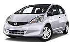 Stock pictures of low aggressive front three quarter view of a 2014 Honda Jazz s 5 Door Hatchback 2WD Low Aggressive