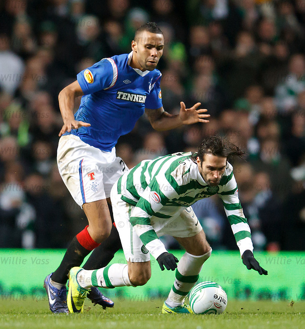 Kyle Bartley unsettles Georgios Samaras