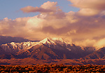Golden Light<br /> The Sangre de Cristo Mountains rise above The Great Sand Dunes National Monument at sunset in the San Luis Valley, Colorado