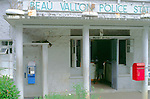 Local village police station at Beau Vallon, Mahe, Seychelles