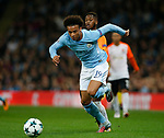 Leroy Sane of Manchester City surges past Fred of Shaktar Donetsk during the Champions League Group F match at the Emirates Stadium, Manchester. Picture date: September 26th 2017. Picture credit should read: Andrew Yates/Sportimage