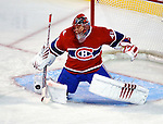 23 January 2010: Montreal Canadiens' goaltender Jaroslav Halak makes a first period save against the New York Rangers at the Bell Centre in Montreal, Quebec, Canada. The Canadiens shut out the Rangers 6-0. Mandatory Credit: Ed Wolfstein Photo