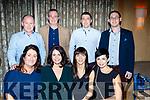 Seated, L-R Mary Teresa Kelliher, Katherine McCarthy, Trisha cahill&Jetta Egan, back L-R Eamonn Kelliher, denis McCarthy, Michael Cahill&Danial Egan at the Cordal GAA awards night in the Ballygarry House hotel, Tralee last Saturday.