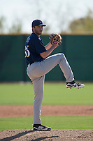 Milwaukee Brewers relief pitcher Blake Lillis (86) during a Minor League Spring Training game against the Colorado Rockies at Salt River Fields at Talking Stick on March 17, 2018 in Scottsdale, Arizona. (Zachary Lucy/Four Seam Images)