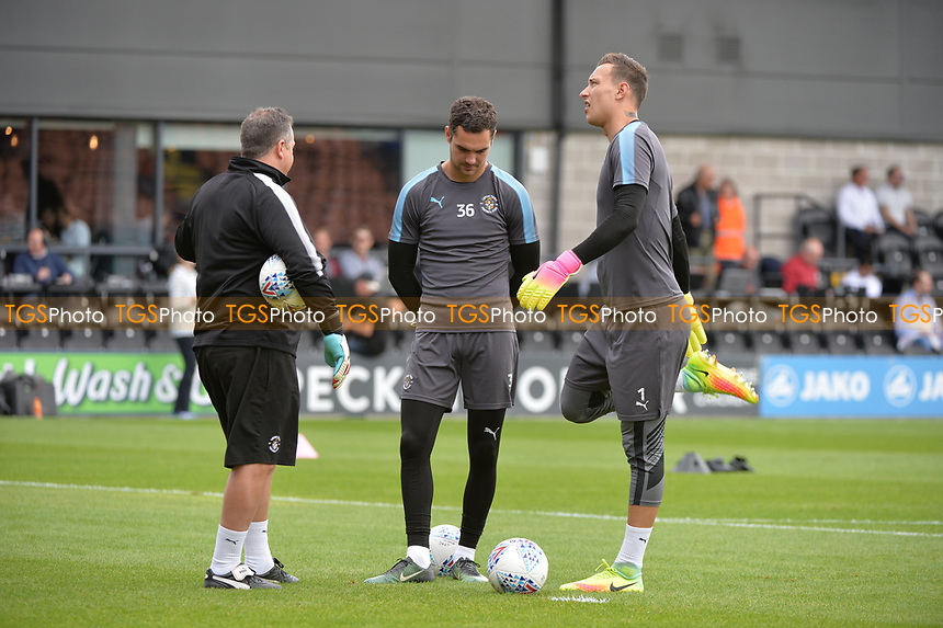 Luton keepers chatting Marek stech of Luton Town during warm up  during Barnet vs Luton Town, Sky Bet EFL League 2 Football at the Hive Stadium on 12th August 2017