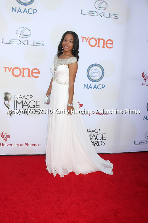 LOS ANGELES - FEB 6:  Ajae Ashley Jackson at the 46th NAACP Image Awards Arrivals at a Pasadena Convention Center on February 6, 2015 in Pasadena, CA