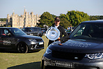 2nd September 2018. Tim Price (NZL) with the Land Rover Perpetual Challenge Trophy after winning the 2018 Land Rover Burghley Horse Trials in Stamford, Lincolnshire, United Kingdom. Jonathan Clarke/JPC Images