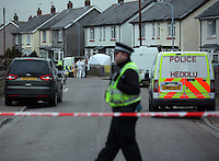 2016 03 03 Police at the scene of a stabbing,Cardiff, Wales, UK