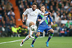 Real Madrid's Daniel Carvajal (l) and WfL Wolfsburg's Julian Draxler during Champions League 2015/2016 Quarter-finals 2nd leg match. April 12,2016. (ALTERPHOTOS/Acero)
