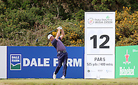 Saturday 30th May 2015; Graeme McDowell, Northern Ireland, tees off at the 12th<br /> <br /> Dubai Duty Free Irish Open Golf Championship 2015, Round 3 County Down Golf Club, Co. Down. Picture credit: John Dickson / SPORTSFILE