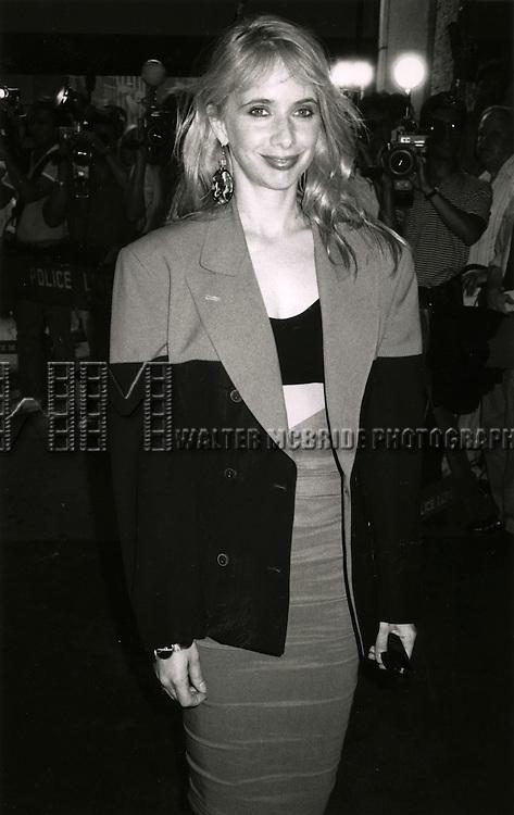 Rosanna Arquette.in New York City..June 1986.© Walter McBride /